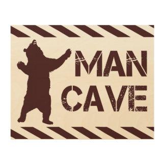 Cueva del hombre impresión en madera