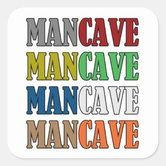 Cueva del hombre pegatina cuadrada