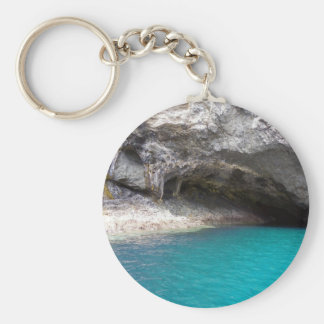 Cueva del mar de la isla de la cabra llavero redondo tipo pin