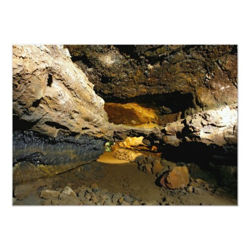 Cueva del tubo de lava invitación 12,7 x 17,8 cm