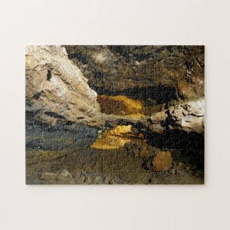 Cueva del tubo de lava rompecabezas con fotos