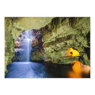 """Cueva Durness de Smoo en la montaña Escocia de Invitación 5"""" X 7"""""""
