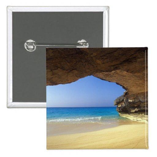 Cueva en la bahía francesa, isla de San Salvador, Pin Cuadrado