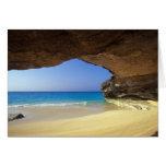 Cueva en la bahía francesa, isla de San Salvador, Tarjeta De Felicitación