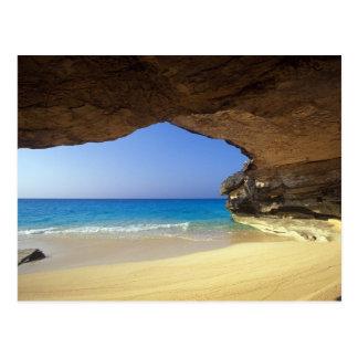 Cueva en la bahía francesa, isla de San Salvador, Postal
