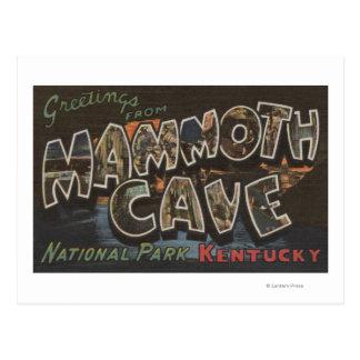 Cueva gigantesca, Kentucky - escenas grandes de la Postales