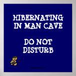 Cueva Hibernating del hombre Impresiones