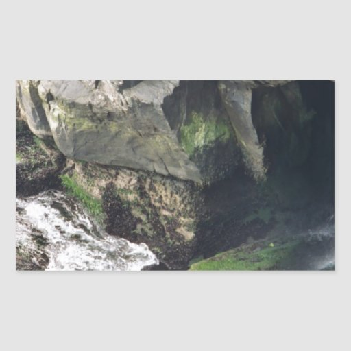 Cueva Pegatina Rectangular