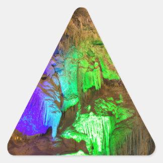 cueva pegatina triangular