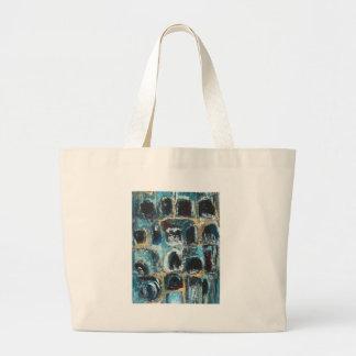 Cuevas azules antiguas (expresionismo abstracto) bolsas de mano