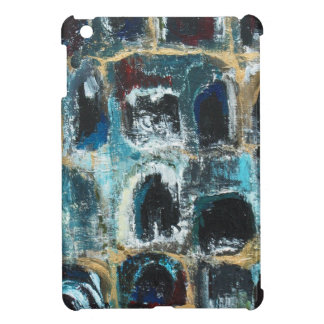 Cuevas azules antiguas (expresionismo abstracto) iPad mini fundas