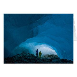 Cuevas de hielo en el Juneau Icefield (espacio en Tarjeta De Felicitación