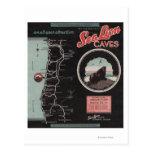 Cuevas del león marino, Florencia, Oregon Tarjeta Postal