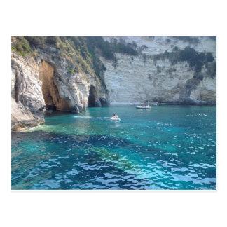 cuevas hermosas en Grecia Tarjeta Postal