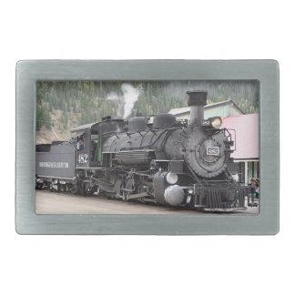 Cueza el motor del tren al vapor, Colorado, los Hebilla Cinturón Rectangular
