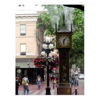 Cueza el reloj al vapor Gastown/saludos de A.C., C Postal