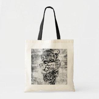 Cueza los cráneos al vapor ilustrados mano punky e bolsas