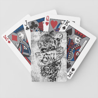 Cueza los cráneos al vapor ilustrados mano punky e baraja de cartas