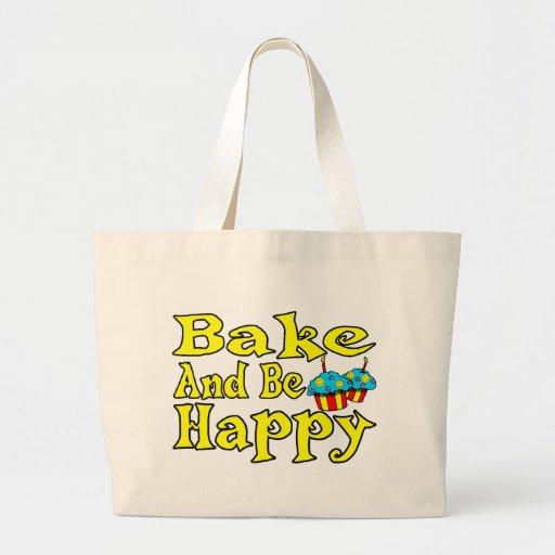 Cueza y sea feliz bolsa tela grande