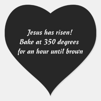 Cuézame un Jesús Calcomanía Corazón