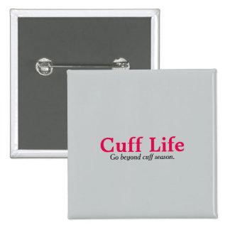 Cuff Life Gray Square Button
