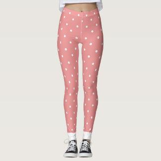 Cuffed_Peach_Polka Dots_XS-TO--XL_Leggings_ Leggings