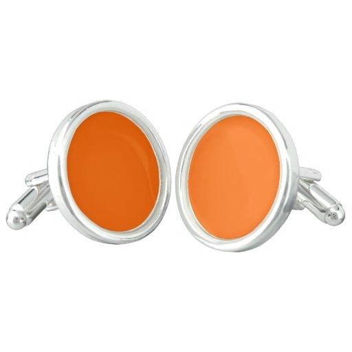 Cufflinks Round uni Orange