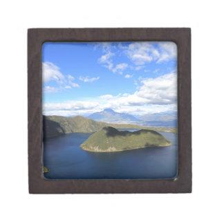 Cuicocha tranquility crater lake Ecuador Jewelry Box
