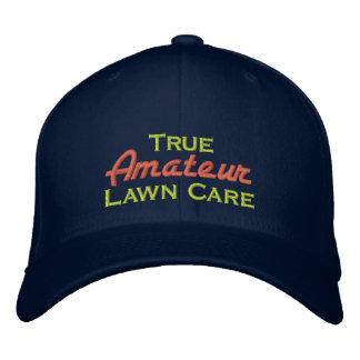 Cuidado aficionado verdadero del césped gorra de béisbol