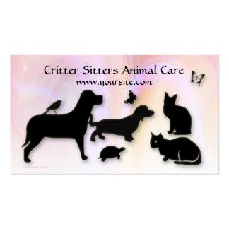 Cuidado animal del canguro del Critter Tarjetas Personales