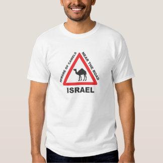 Cuidado Camelo a Frente em Israel T Shirt