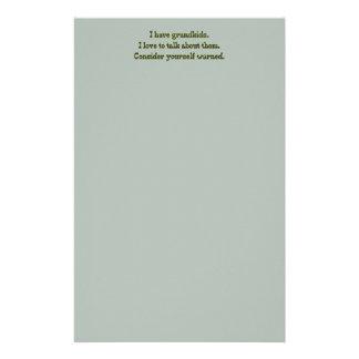 Cuidado de abuelos papelería de diseño