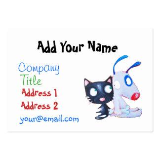 cuidado de animales de compañía, amante del gato, tarjetas de visita grandes
