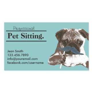 Cuidado de animales de compañía lindo del perro tarjetas de visita