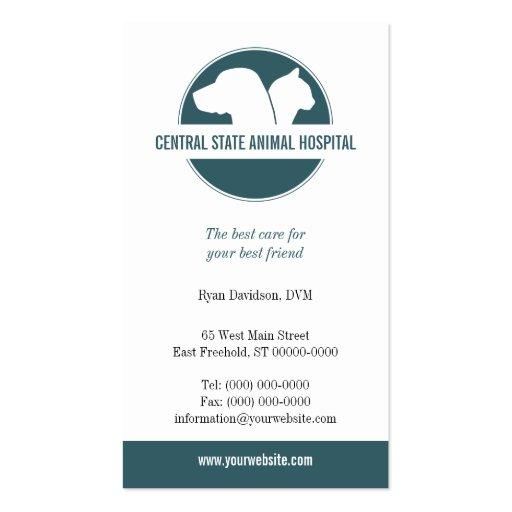 Cuidado de animales de compañía tarjetas de negocios