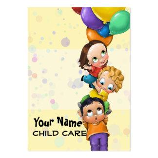 Cuidado de día. Cuidado de niños. El cuid losar Tarjetas De Visita Grandes