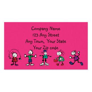 cuidado de día, cuidado de niños, profesor o el tarjetas de visita