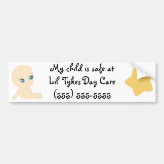 Cuidado de día de los Tykes de Lil Pegatina Para Auto