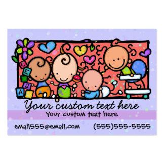 Cuidado de día que cuid losa nin¢os. tarjetas de visita grandes