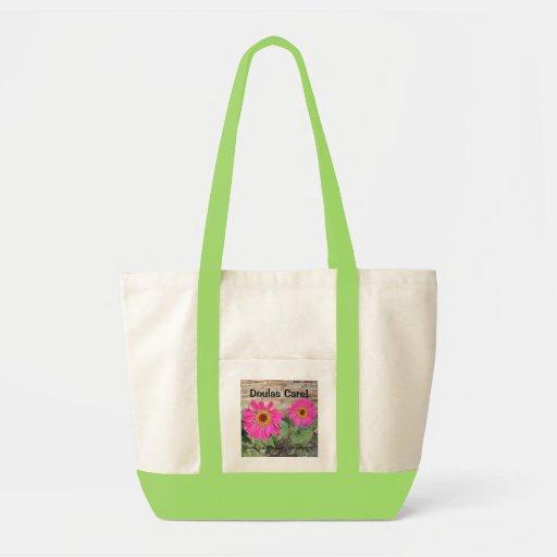 ¡Cuidado de Doulas! tote floral * Bolsa Tela Impulso