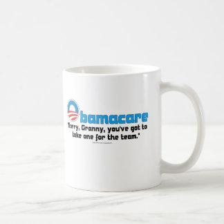 Cuidado de la abuelita taza de café