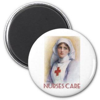 Cuidado de las enfermeras imán para frigorífico