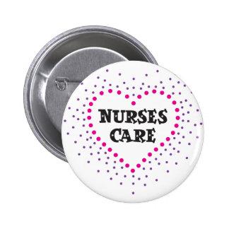 cuidado de las enfermeras pin redondo de 2 pulgadas