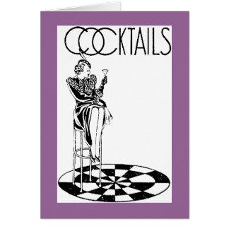 ¿Cuidado de los cócteles… para unirse a me? tarjet Tarjeta De Felicitación