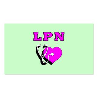 Cuidado de LPN Tarjetas Personales