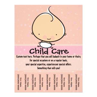 Cuidado de niños. Aviador de Babysitting.tearsheet Flyer Personalizado