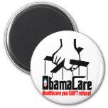 Cuidado de Obama: ¡Atención sanitaria que usted no Imán Redondo 5 Cm