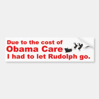 Cuidado de Obama contra Rudolph Pegatina Para Auto