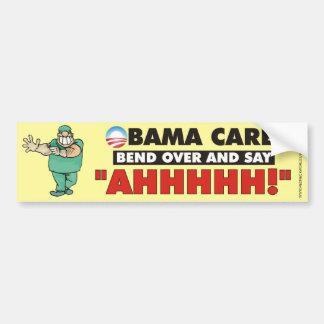 Cuidado de Obama - doble encima y diga AHHHHH Etiqueta De Parachoque
