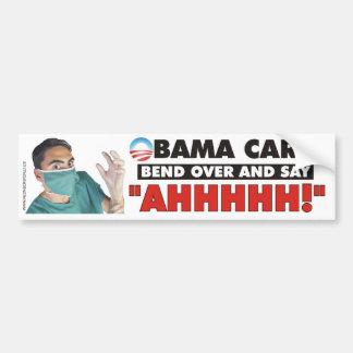 Cuidado de Obama - doble encima y diga AHHHHH Pegatina Para Auto